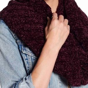 Free People Lovebug Chenille Cowl Twisted Scarf